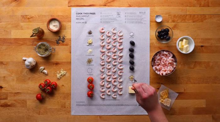 Koktélrák Ikea előre megrajzolt sütőpapíron