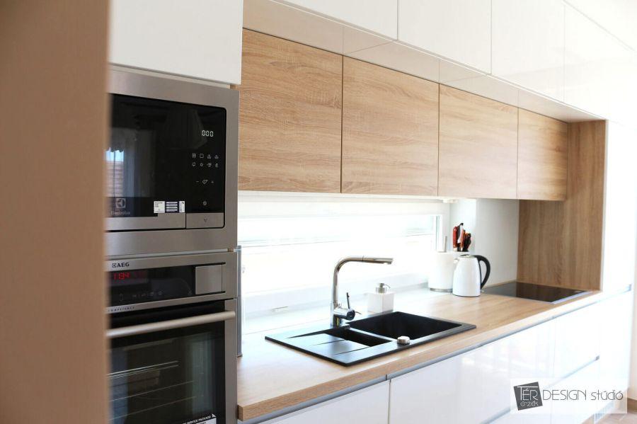 Sverha Nikolett formatervező, tértervező, lakberendező modern konyhabútor