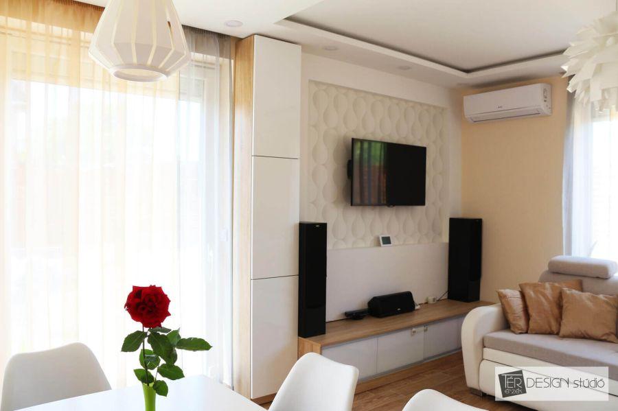 Sverha Nikolett formatervező, tértervező, lakberendező nappali berendezés