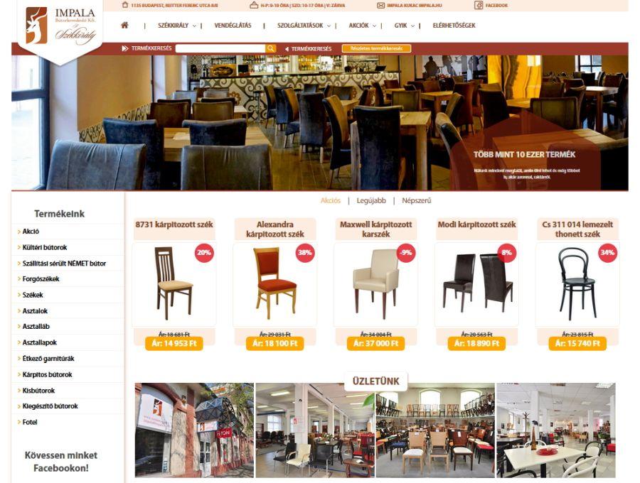 A Székkirály új weboldala