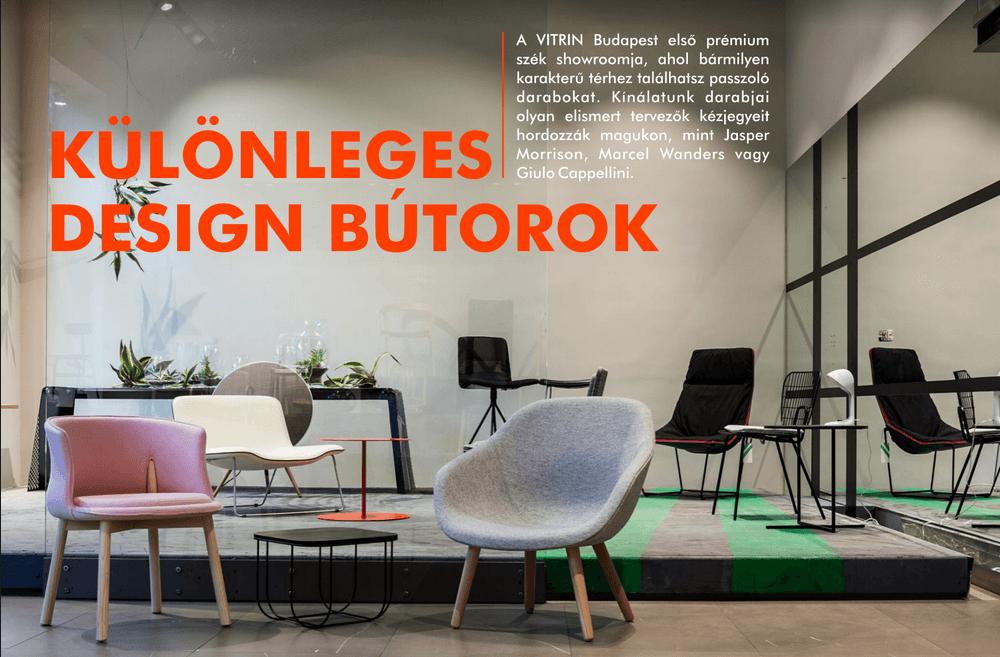 Különleges design bútorok Vitrin Bartók Béla út