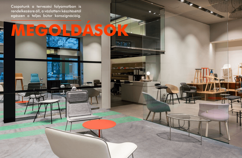 Vitrin design szék üzlet és tervezés