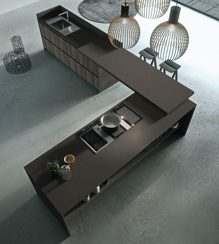 L alakú térben álló Arrital konyhabútor