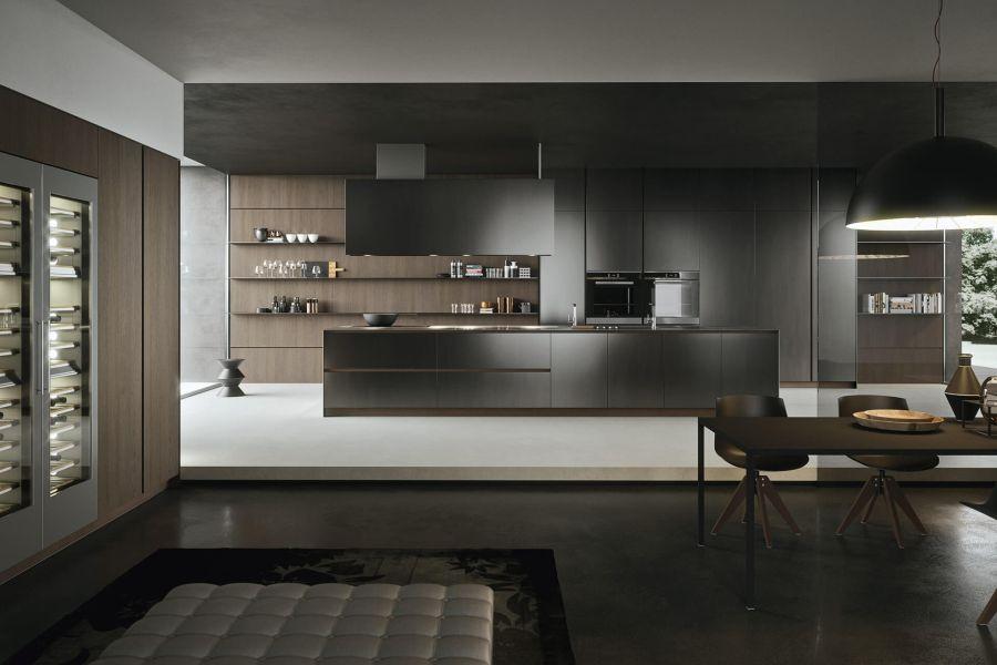 Arrital konyha sötét trend színekben
