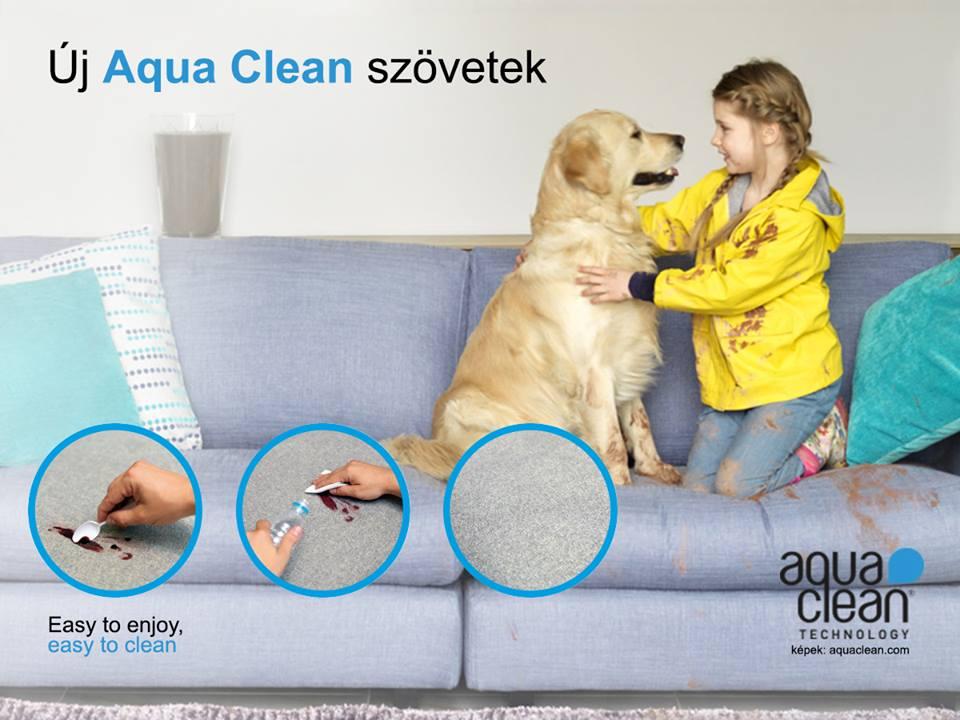 Aquaclean bútorszövet a Home Designban sok színben mintákkal is