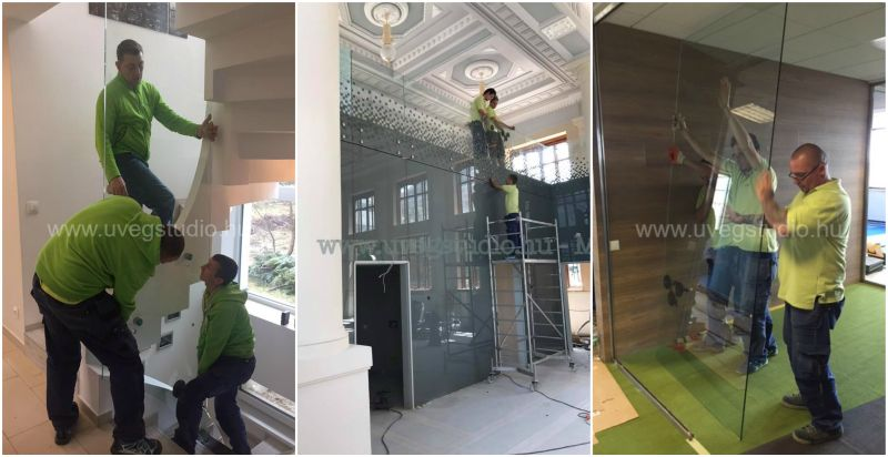 MAX Üvegstúdió üvegfal beépítés