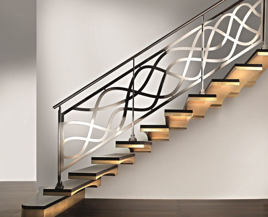 Kovácsoltvas korlát lépcsőhöz