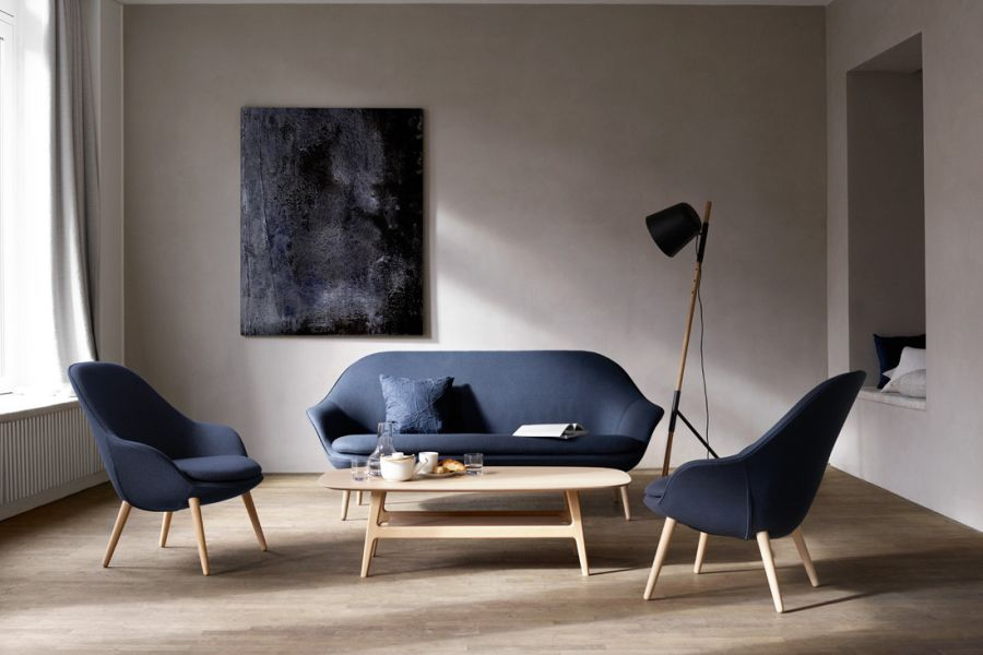 Adelaide BoConcept kanapé és fotel sötétkék