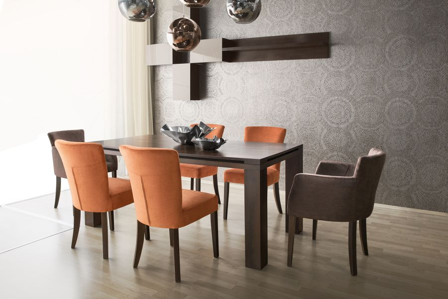 Rio Design étkező Syb karszék és szék, Control asztal