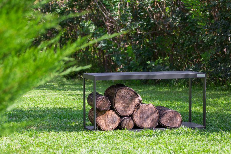 Kerti fém design asztal