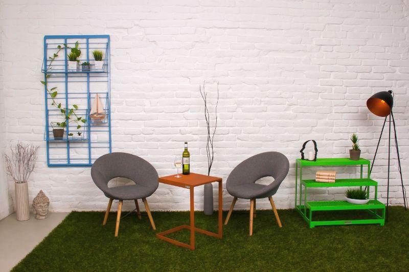 Fém design bútorok Út a kerthez