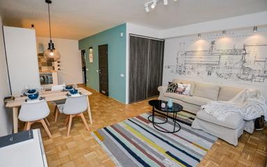 Lakásfelújítással egybekötött lakberendezés egy budapesti 61 nm-es lakásban