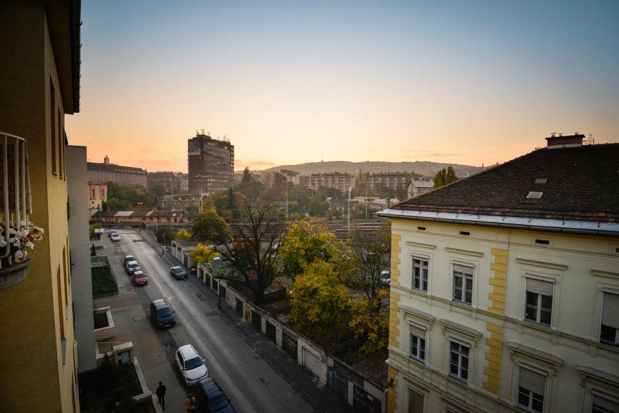 Kilátás Kuny Domokos utcai lakásból