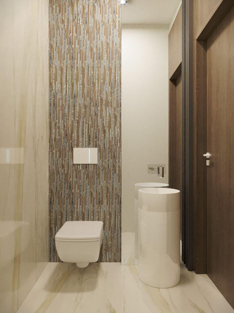 WC burkolás bézs színű burkolat