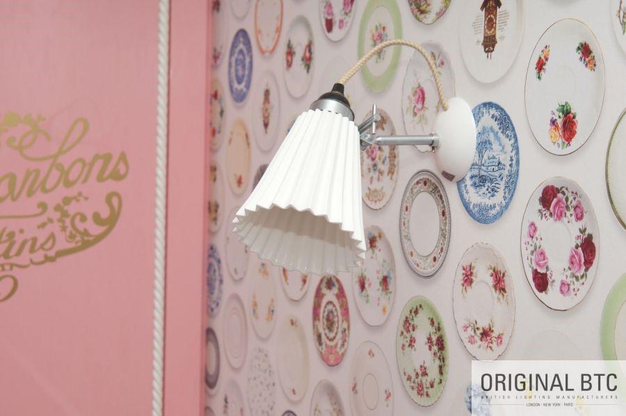 Original BTC porcelán fali lámpa