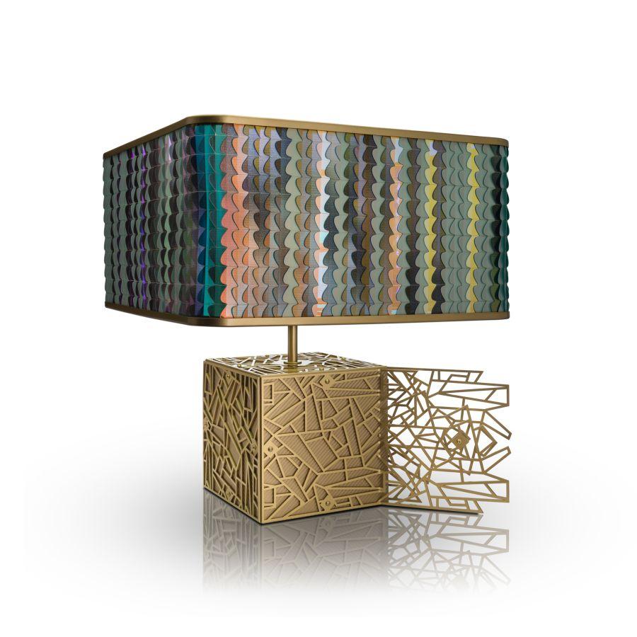 Laokoon art deco ihlette lámpa kollekció színes lámpabúra