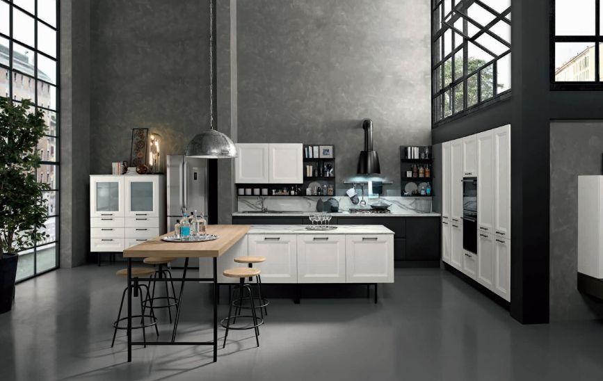 Vintage stílusú konyhabútor fehérben