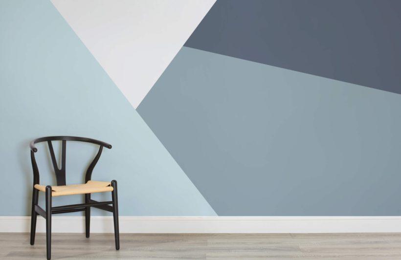 Egyedi falfestés geometrikus minta