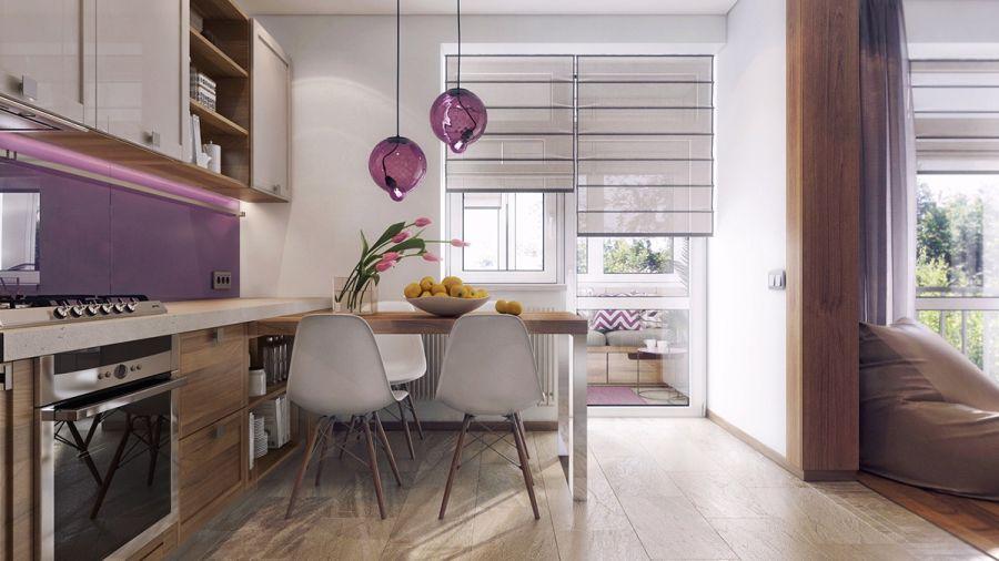 Étkező a konyhában Eames székek