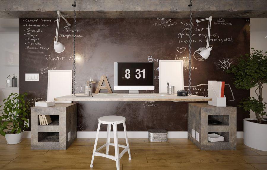 Vintage home office lakberendezés