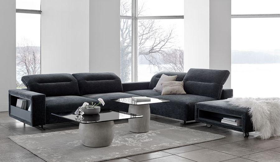 BoConcept Hampton kanapé fekete színben