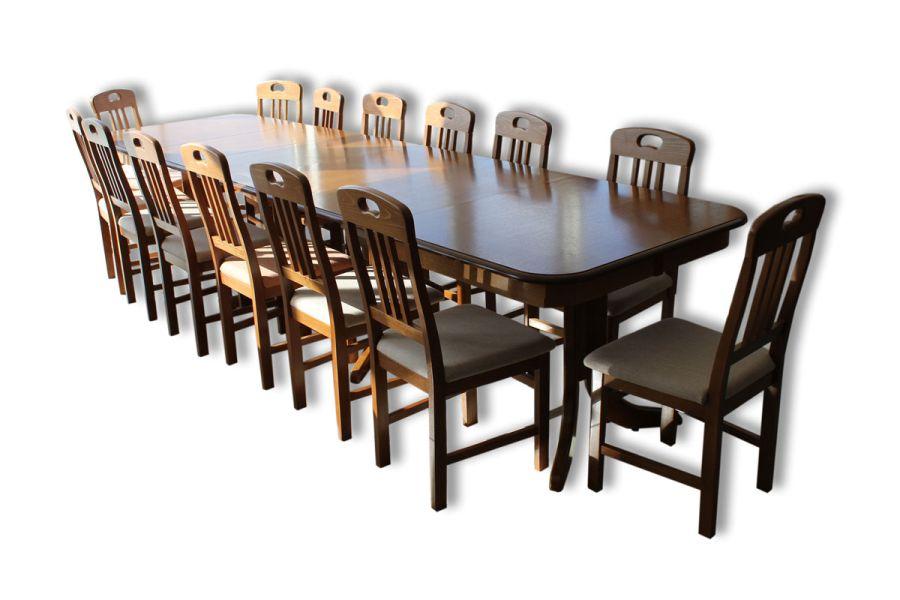 Hosszú étkezőasztal