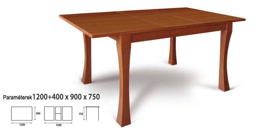 Étkezőasztal nagyobbítható