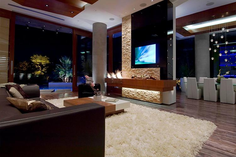 Bill Gates házának nappalija