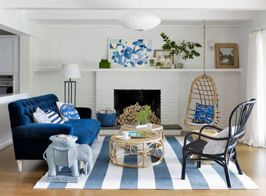 Emily Henderson lakberendező eklektikus nappali