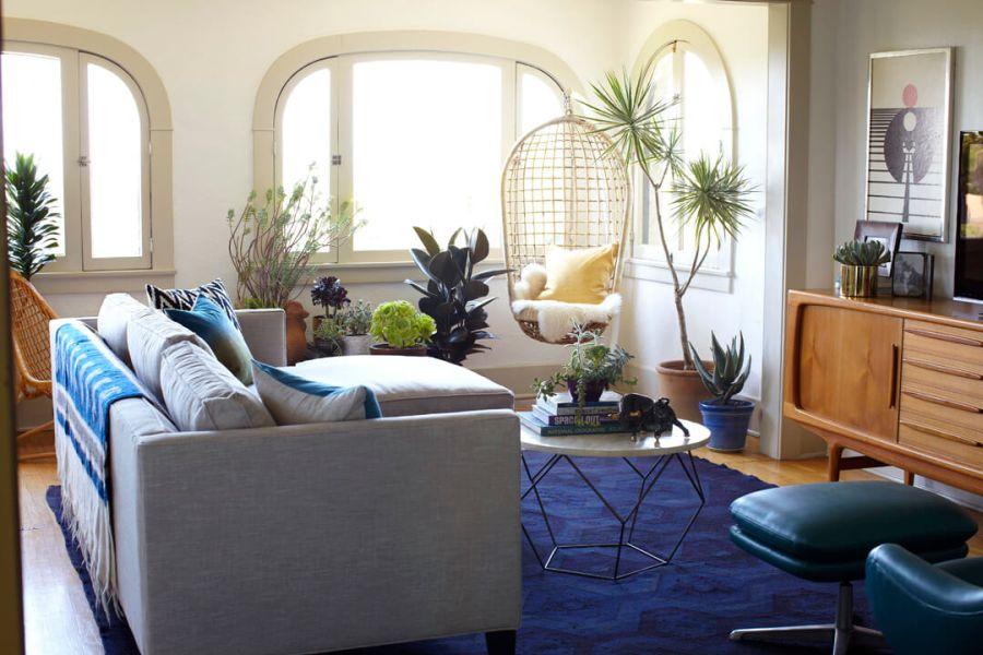 Emily Henderson lakberendező modern nappali lakberendezés
