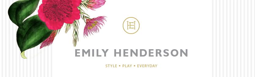 Emily Henderson lakberendező logo