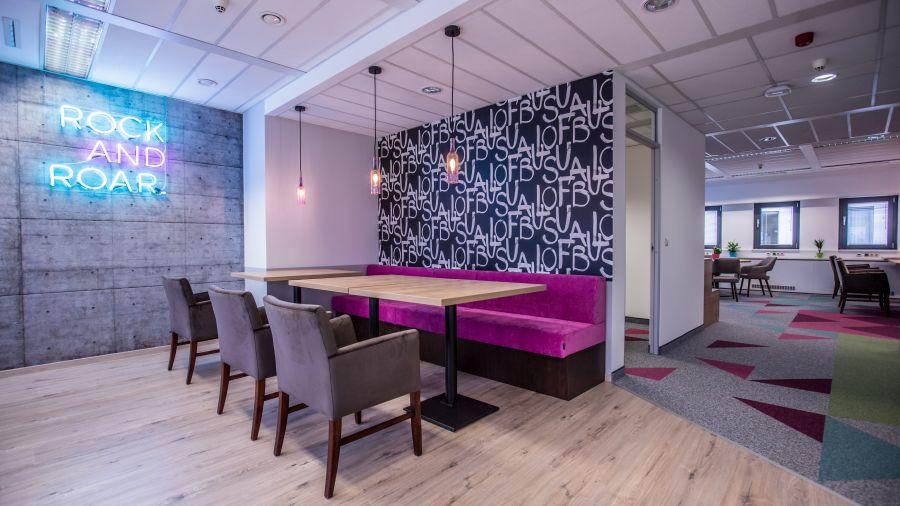 Beton és neon design