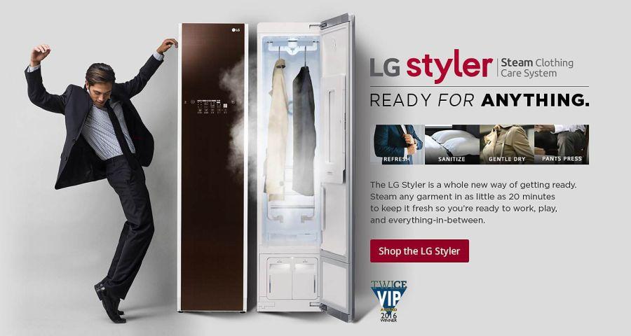LG Styler gőzölő