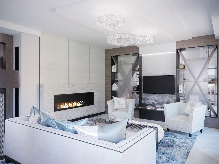 Igényes nappali lakberendezés Dóró Judit belsőépítész