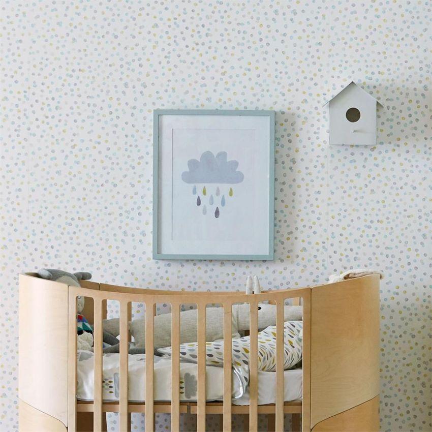 Pöttyös tapéta gyerekszobába Home Design Lakberendezés