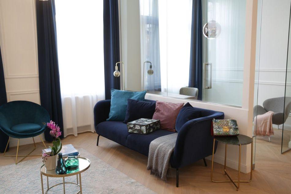 Vakum Design bársony kanapé