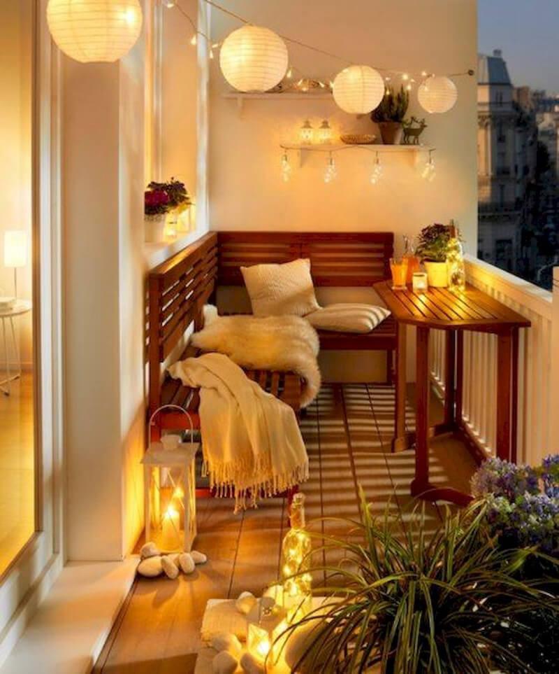 Balkon dekoráció
