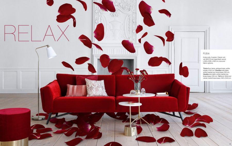 IDdesign piros kanapé