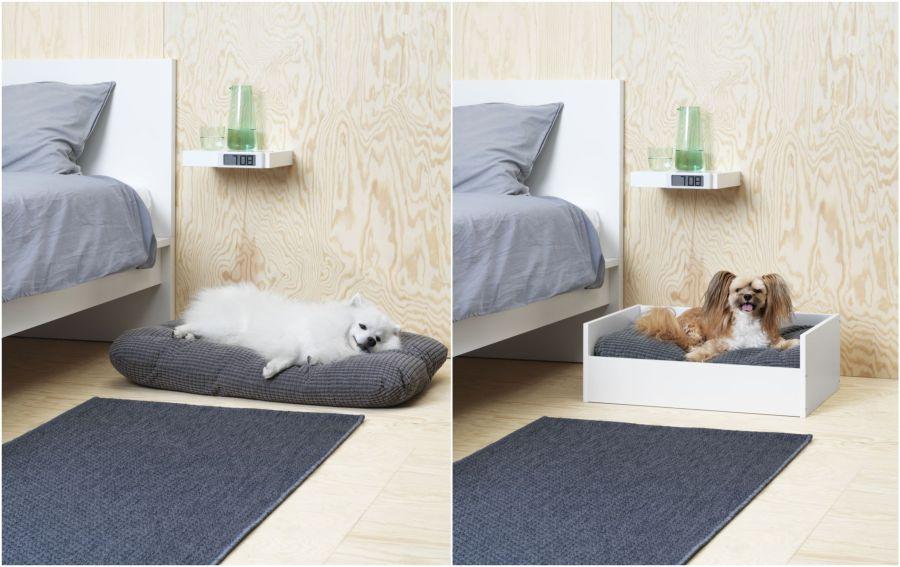 Mini ágy kutyáknak és párna Ikea