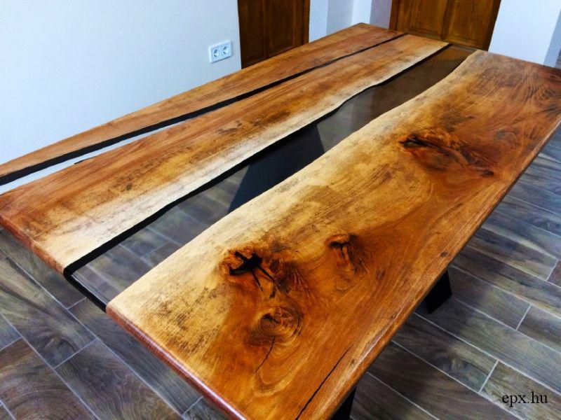 Műgyanta asztal készítése