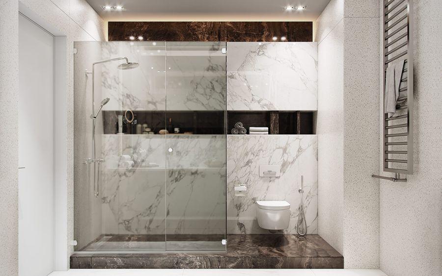 Márvány mintás fürdőszoba