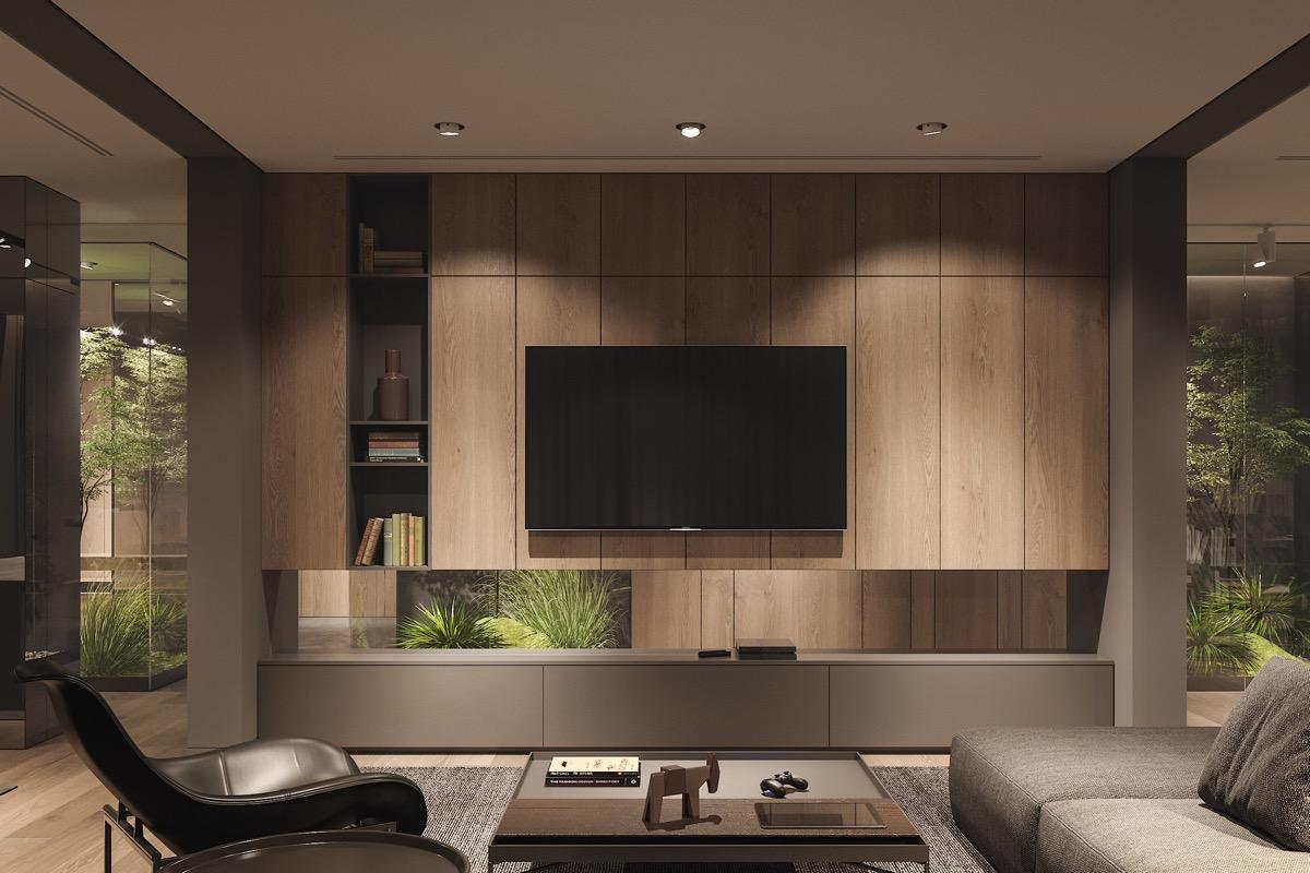 Nappali fal tévével