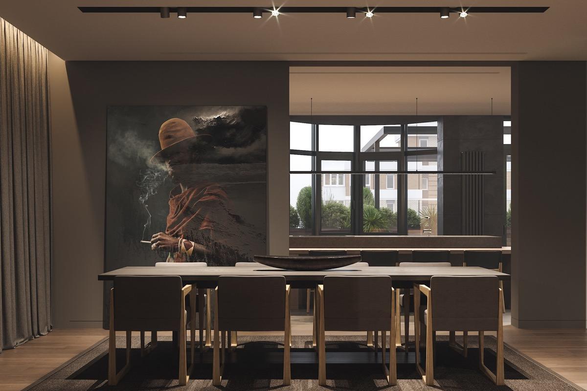 Modern letisztult étkező design