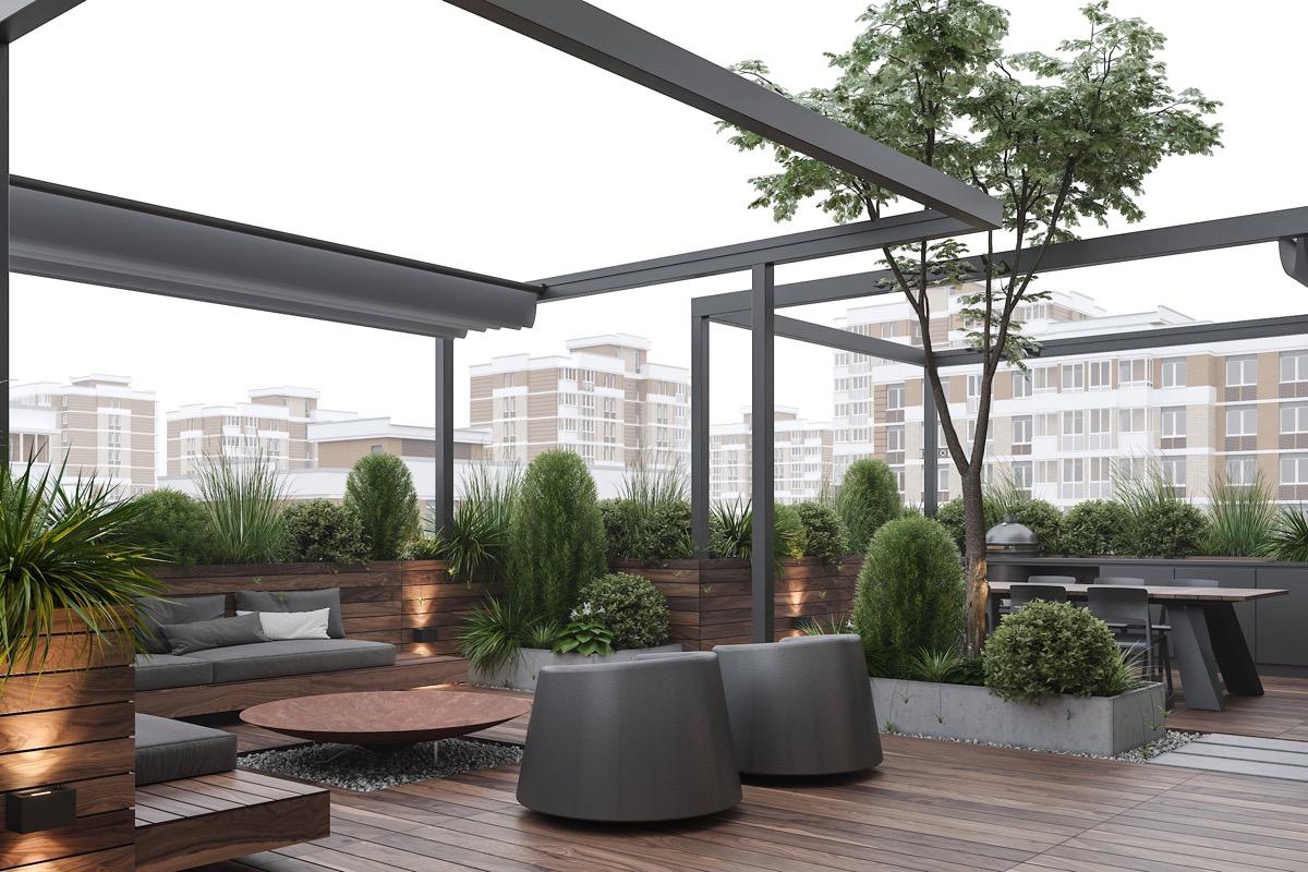 Örökzöld növények tetőteraszra
