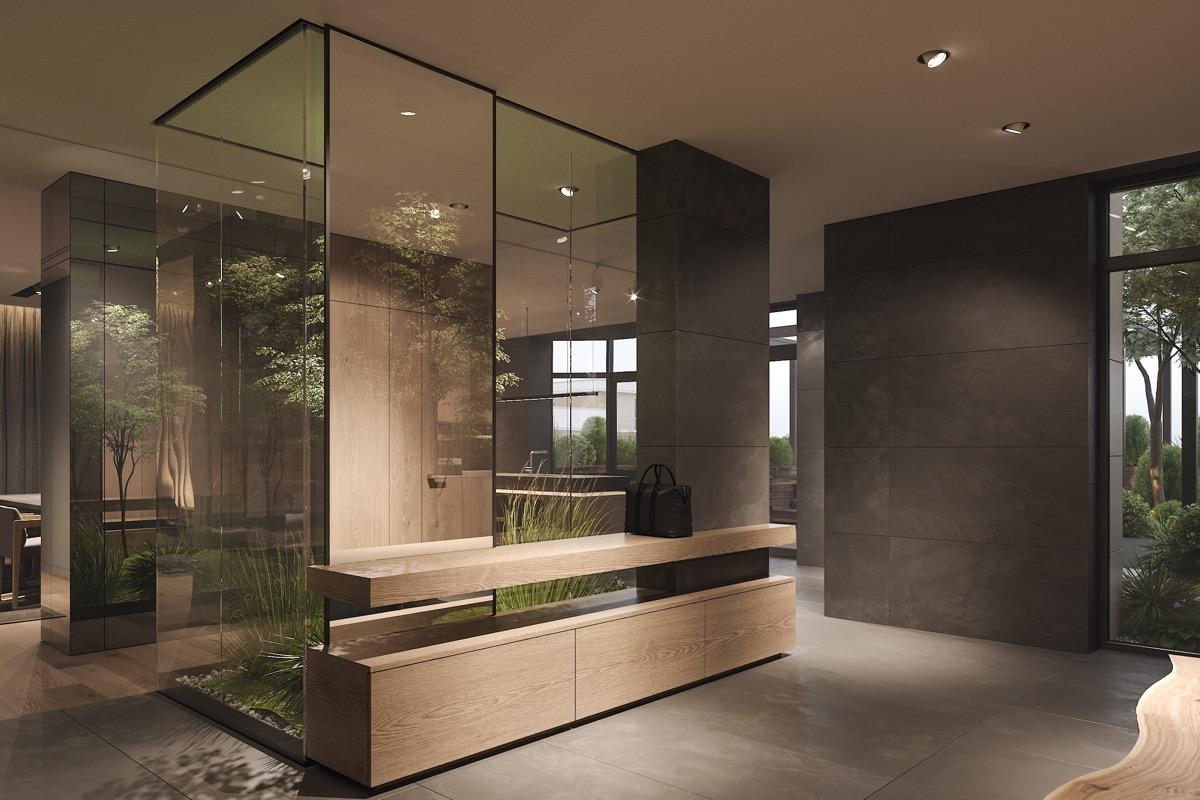Üvegfülke növényekkel