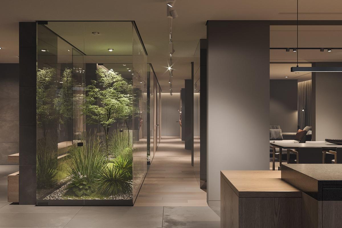 Üvegkalitka élő növényeknek