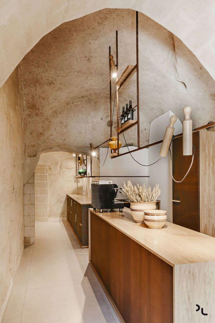 Pizzéria egy barlangban konyhapult