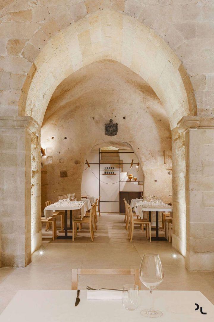 Pizzéria egy barlangban étterem Matera városában