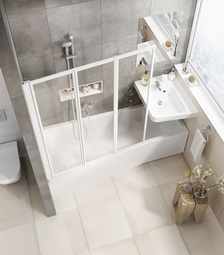 Szűk fürdőszoba mosdó ötlet