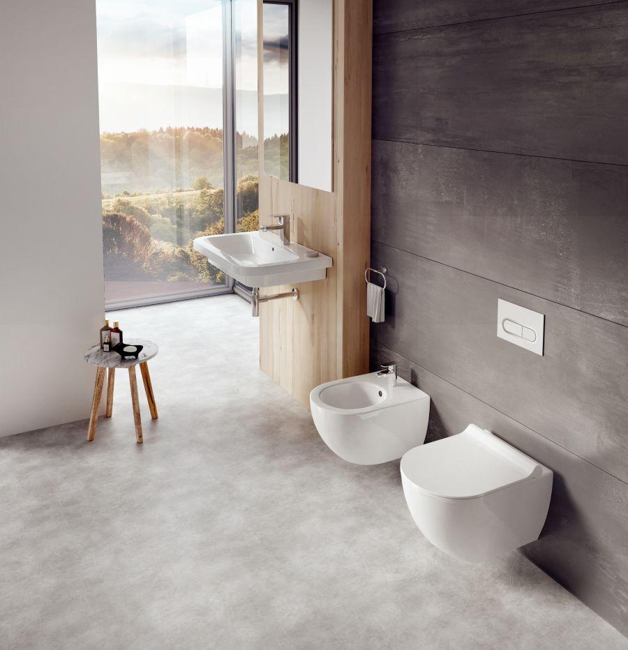 Wc és bidé kis fürdőszobába
